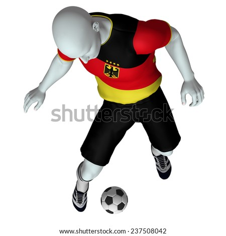 Football /Soccer player in action - Germany