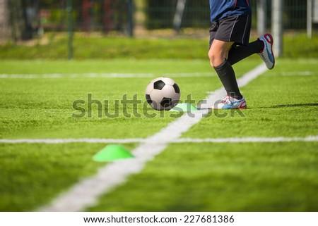 Football soccer training for children - stock photo