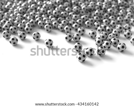 Football sport background, original 3d rendering