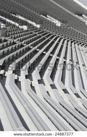 Football Stadium benches - stock photo