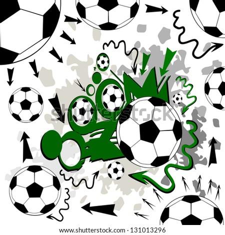 Football strategy. Raster - stock photo