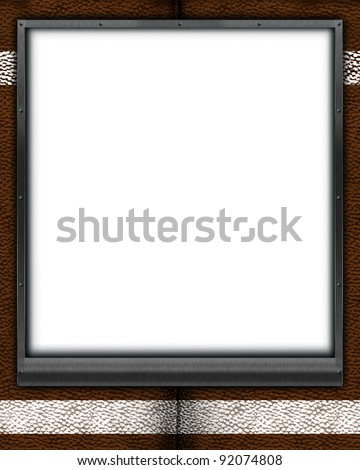 football themed mat frame 8X10 (can be sized to 5X7 picture as well). Place your favorite individual or team football picture, or message inside this custom frame! - stock photo