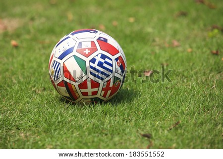 football with countries flag pattern - stock photo