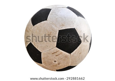 Football with isolated white background - stock photo