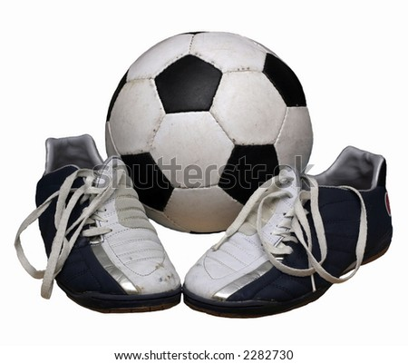 football with shoes - stock photo