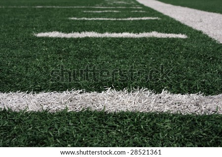 Football yard lines - stock photo