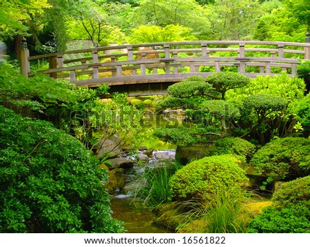 Wooden foot bridge stock images royalty free images vectors shutterstock for Portland japanese garden free day