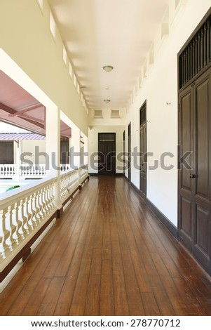 Footpath in the art galleries - stock photo