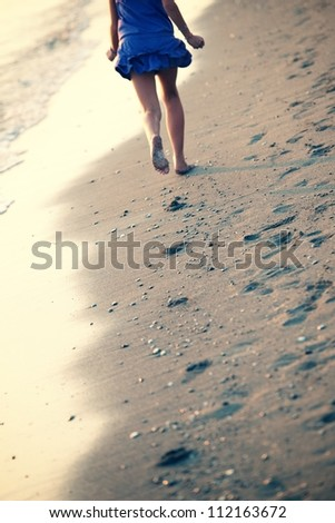 footsteps - stock photo