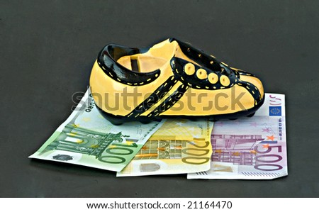 footwear the money bank isolated on black background