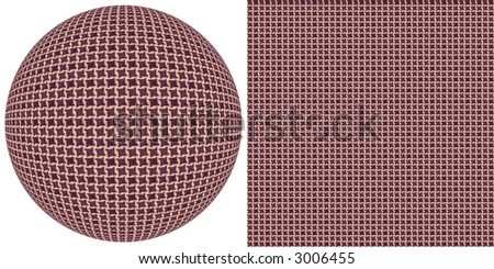 For a basis the element of a real fabric is taken. The picture consists of two parts - a background and sphere. Both of an element are made with use of one pattern