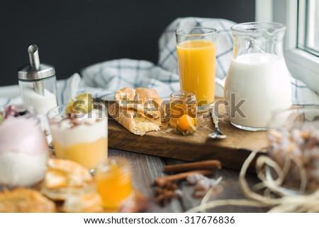 for breakfast - stock photo