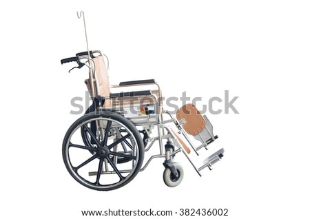 For patients with handicapped arm weakness, weakness and paralysis. Brown wheelchairs selective focus - stock photo