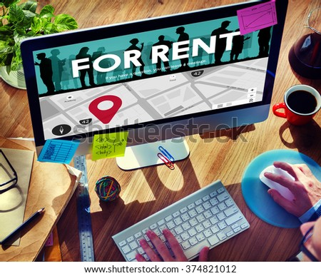 For Rent Rental Available Renting Borrow Property Concept - stock photo