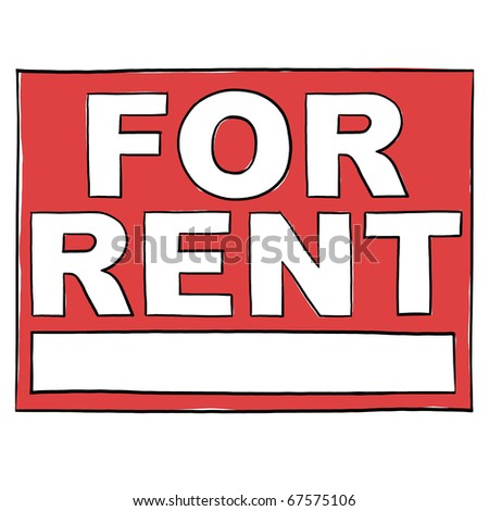 For Rent Sign; For Rent Real Estate Sign; Property For Rent Sign - stock photo
