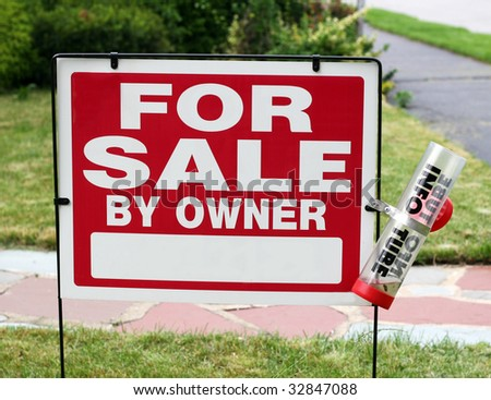 for sale by owner sign - stock photo