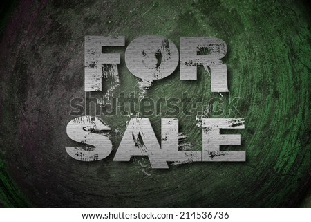 For Sale Concept text on background
