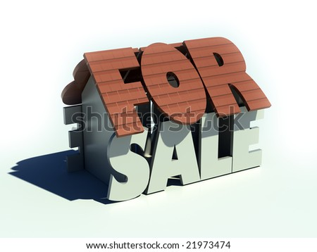 For sale house - stock photo
