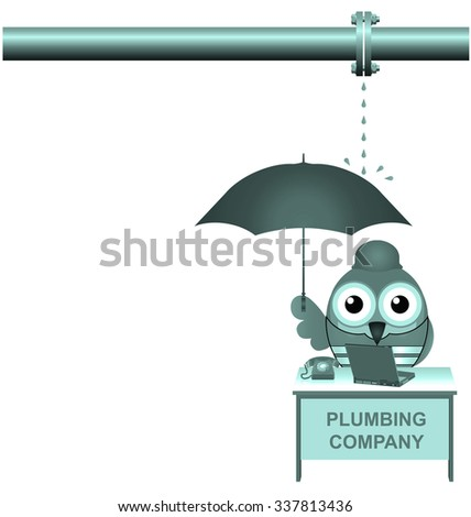 For some unknown reason business was slow at the plumbing company  - stock photo