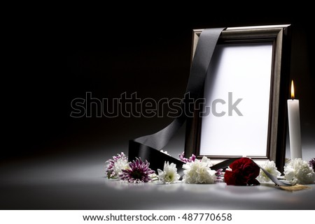 Sympathy Card Blank Mourning Frame Stock Photo (100% Legal ...