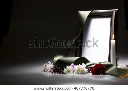 Sympathy Card Blank Mourning Frame Stock Photo (Download Now ...