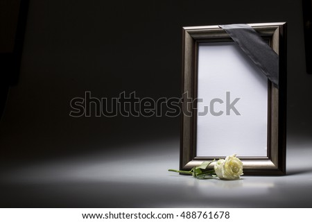 Sympathy Card Blank Mourning Frame Stock Photo (Royalty Free ...