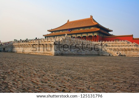 Forbidden city. Beijing. China. - stock photo