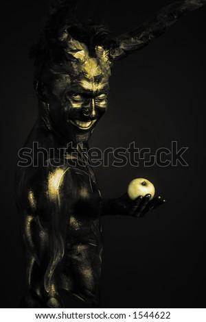 forbidden fruit - stock photo