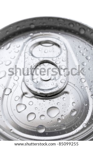 fore the closure of an aluminum can of soda - stock photo