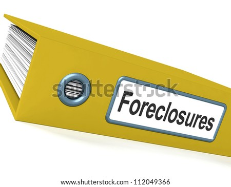 Foreclosures File Showing Bankruptcy And Eviction