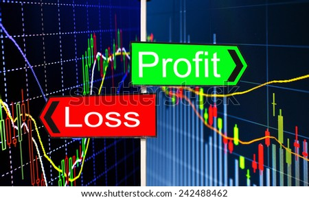 Foreign exchange market chart - stock photo