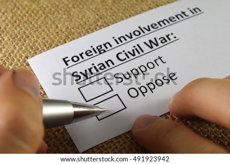 Foreign involvement in syrian civil war