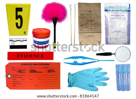 Forensic investigation kit - stock photo