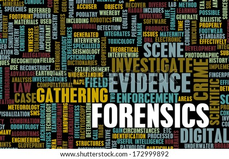 Forensics or Forensic Science as a Concept - stock photo