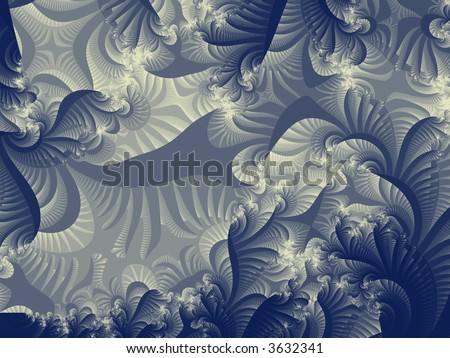 Forest Fractal - stock photo