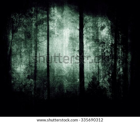 Forest Wallpaper, Beautiful Mystical Landscape - stock photo
