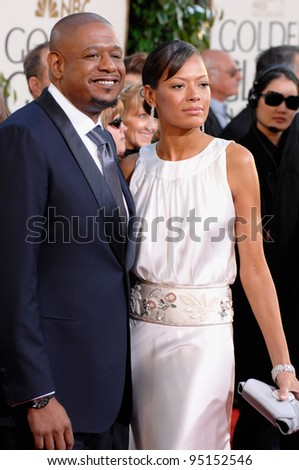 FOREST WHITAKER & wife KEISHA at the 64th Annual Golden Globe Awards at the Beverly Hilton Hotel. January 15, 2007 Beverly Hills, CA Picture: Paul Smith / Featureflash