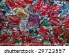 FORESTVILLE, MD - CIRCA 2008: Baled Coke cans at an undisclosed recycling facility circa 2008 in Forestville. The cans will be shipped to an aluminum foundry. - stock photo