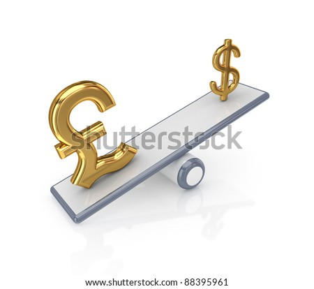 Forex concept.Isolated on white background.3d rendered. - stock photo