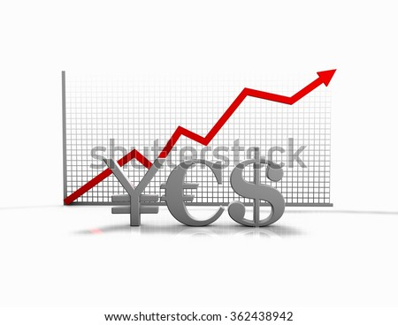 Forex trading and money exchange idea with currencies symbols and graph. - stock photo