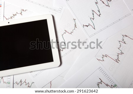 Forex trading background concept - stock photo