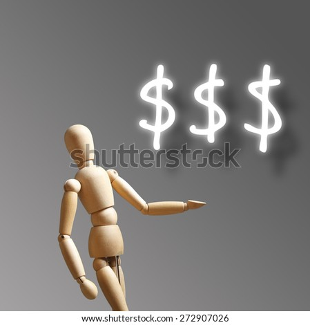 Forex trading background concept with dummy trading - stock photo