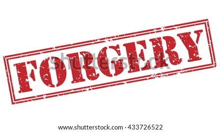 forgery stamp - stock photo