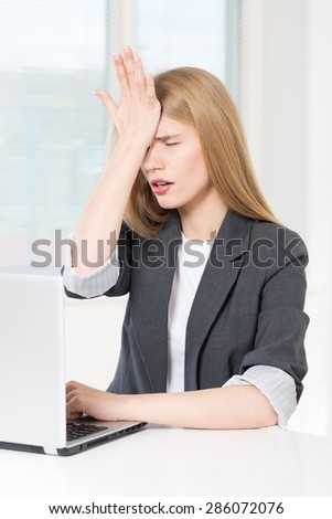Forget, woman, stress. - stock photo