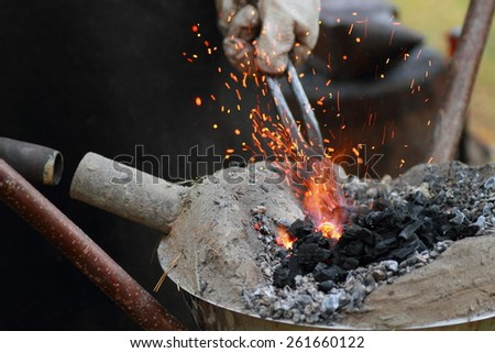 forging iron craft - stock photo