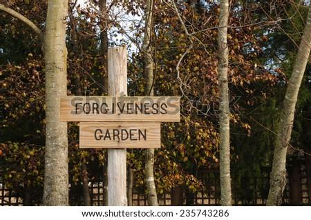 Forgiveness Garden - stock photo