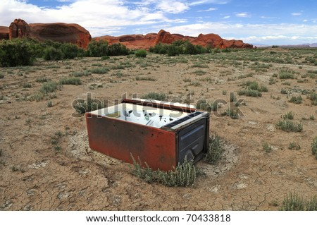 Forgotten Fridge - stock photo