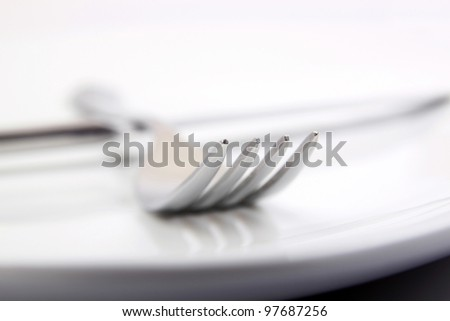 fork and knife on dish