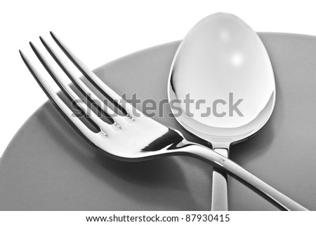 Fork and spoon - stock photo