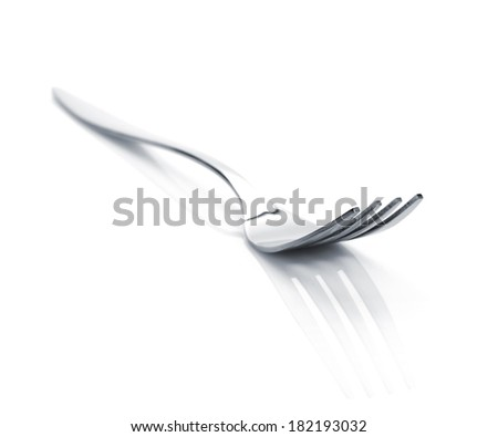 Fork. Silverware isolated on white background